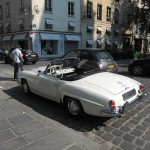 Mercedes 190SL in Paris rear