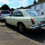 MGB GT 1967 White Rear Left